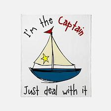 I'm The Captain Throw Blanket