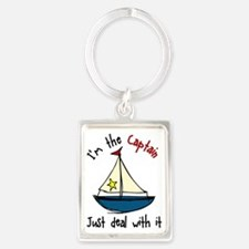 I'm The Captain Portrait Keychain
