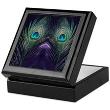 Royal Purple Peacock Keepsake Box