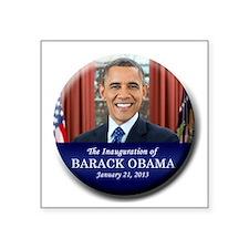 """Obama Inaugural button Square Sticker 3"""" x 3"""""""