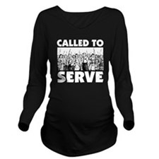 Called to Serve Whit Long Sleeve Maternity T-Shirt
