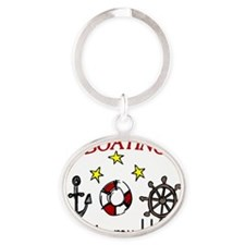 Boating Oval Keychain