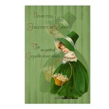 sq_greeting_card_192_V_F Postcards (Package of 8)