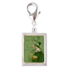 sq_greeting_card_192_V_F Silver Portrait Charm
