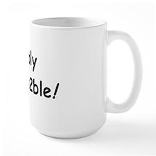 Simply Irresis2ble (black writing) Mug