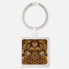 Honey Bees Square Keychain