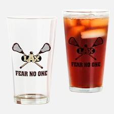 Lacrosse Fear No One Drinking Glass