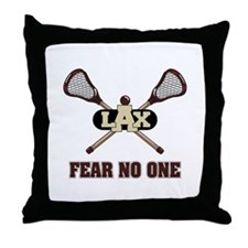 Lacrosse Fear No One Throw Pillow