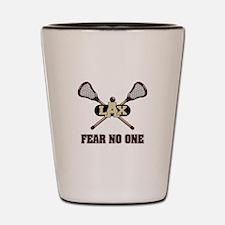 Lacrosse Fear No One Shot Glass