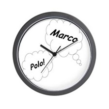 Marco Polo Twin Maternity Shirt Wall Clock