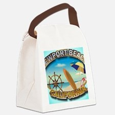 Newport Beach Canvas Lunch Bag
