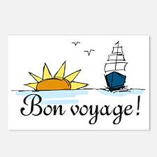 Bon Voyage Postcards (Package of 8)