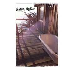 Esalen tub on room deck Postcards (Package of 8)