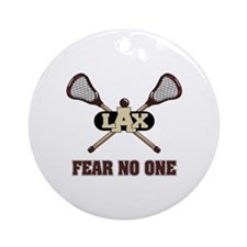 Lacrosse Fear No One Ornament (Round)