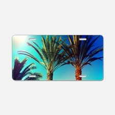 Twin Palms Aluminum License Plate