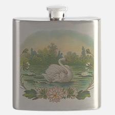 Swimming Swan Flask