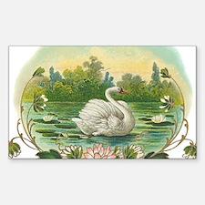 Swimming Swan Decal