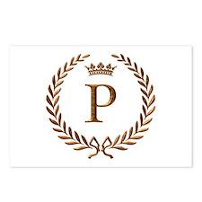Napoleon initial letter P monogram Postcards (Pack