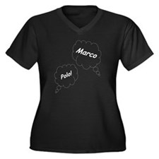 Marco Polo T Women's Plus Size Dark V-Neck T-Shirt