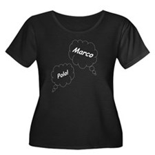 Marco Po Women's Plus Size Dark Scoop Neck T-Shirt