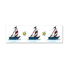 Sailboats Car Magnet 10 x 3