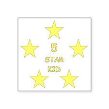 """5 Star Kid Square Sticker 3"""" x 3"""""""