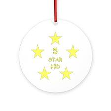 5 Star Kid Round Ornament