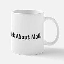 Retired USPS eat sleep never think mail Mug