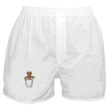 Gingerbread Man Dipped in Milk Boxer Shorts