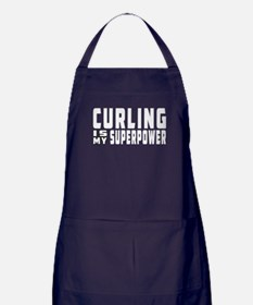 Curling Is My Superpower Apron (dark)