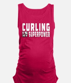 Curling Is My Superpower Maternity Tank Top