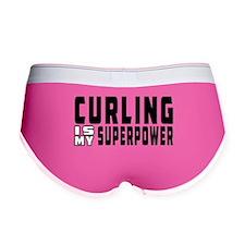 Curling Is My Superpower Women's Boy Brief