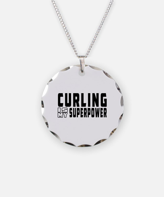 Curling Is My Superpower Necklace