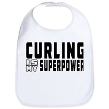 Curling Is My Superpower Bib