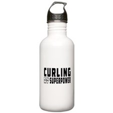 Curling Is My Superpower Sports Water Bottle