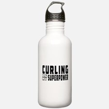 Curling Is My Superpower Water Bottle