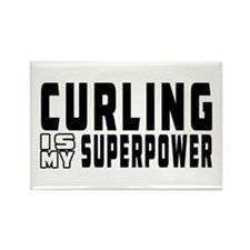 Curling Is My Superpower Rectangle Magnet