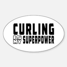 Curling Is My Superpower Decal