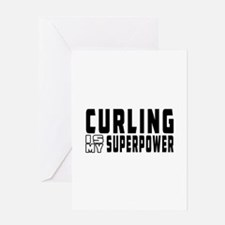 Curling Is My Superpower Greeting Card