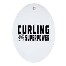 Curling Is My Superpower Ornament (Oval)