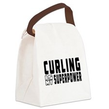 Curling Is My Superpower Canvas Lunch Bag