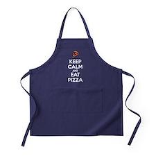 Keep Calm and Eat Pizza 2 Apron (dark)