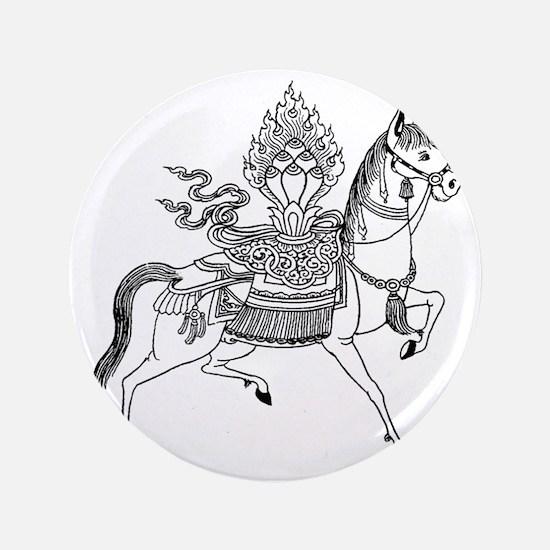 "Wind Horse 3.5"" Button"