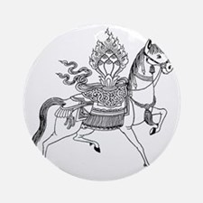 Wind Horse Round Ornament