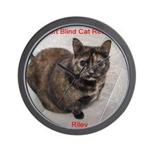 Riley-I support Blind Cat Rescue Wall Clock