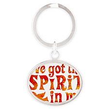 Spirit in Me Oval Keychain