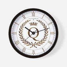 Napoleon initial letter Q monogram Wall Clock