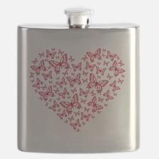 Butterfly heart Flask