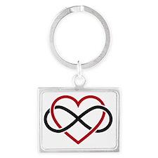 Infinity heart, never ending lo Landscape Keychain