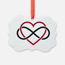 Infinity heart, never ending love Ornament